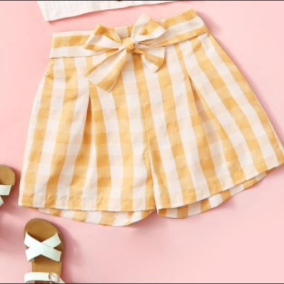 Shein Kids paper shorts